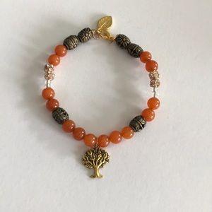 NWT Orange Energy Gym Stones Bracelet